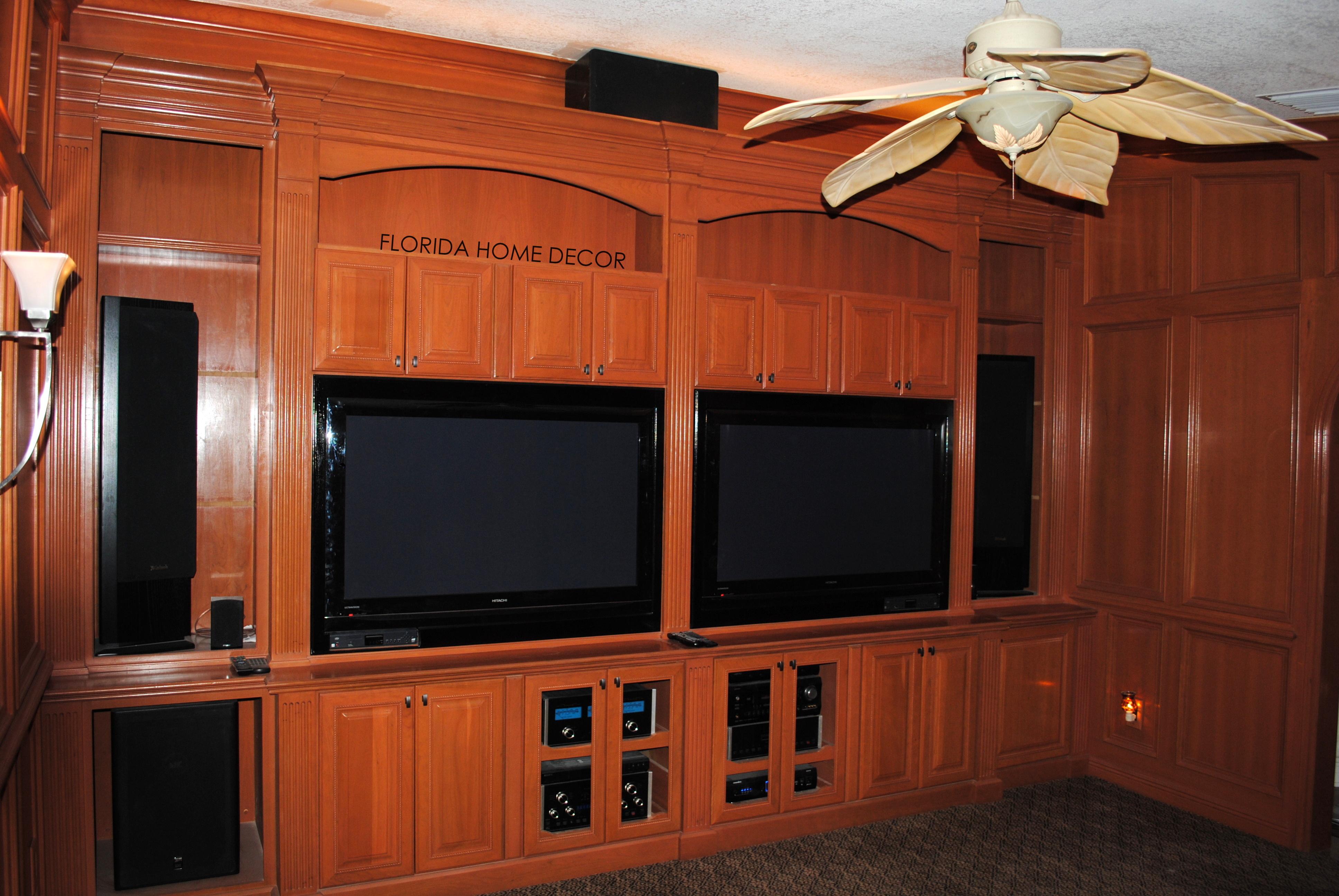 Custom Entertainment Centers Florida Home Decor